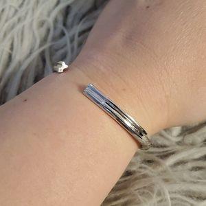 Stella Valle Arrow Cuff Bracelet Silver Color